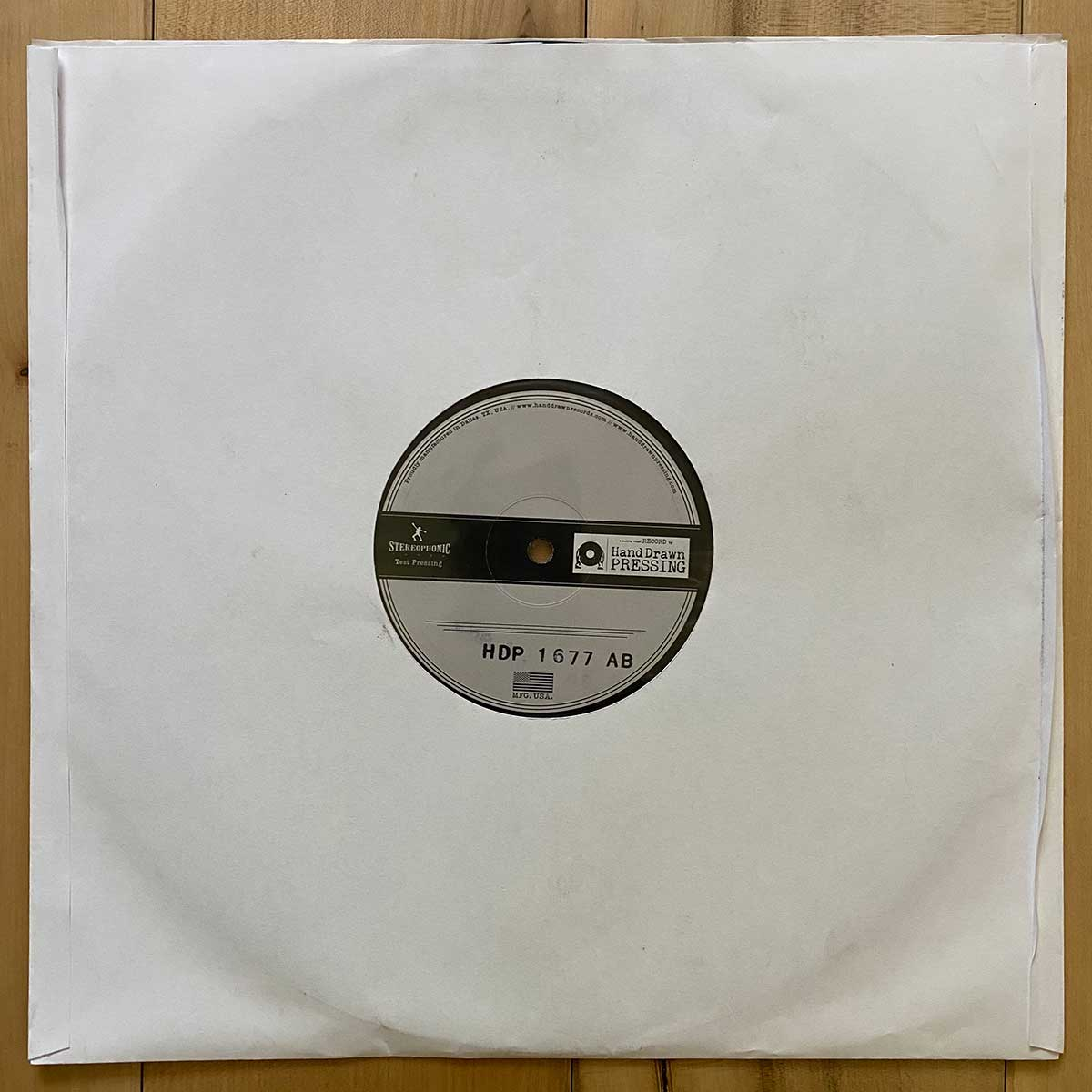 The High Hawks Vinyl Test Pressings (signed - only 3 made available)