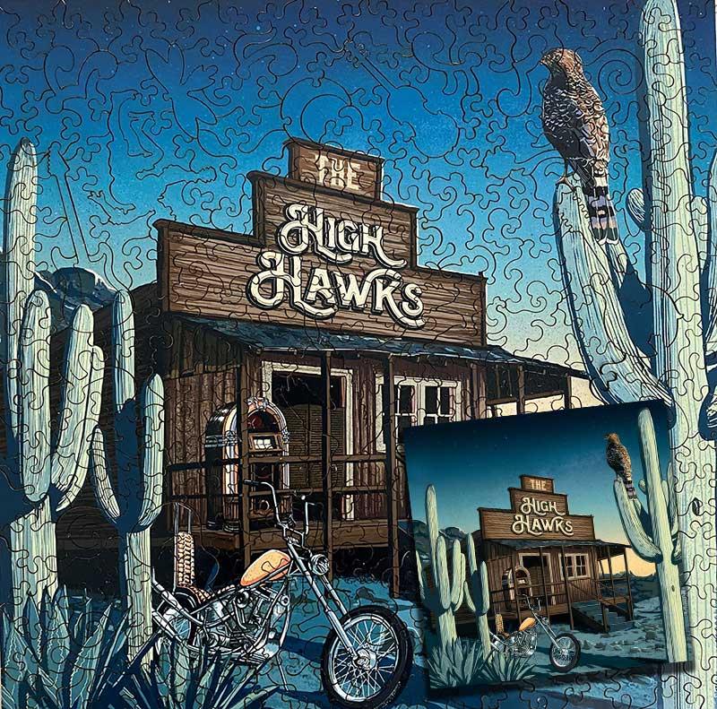 The High Hawks jigsaw puzzle & album bundle
